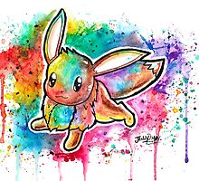 Cute Eevee Watercolor Tshirts + More! ' Pokemon ' Jonny2may by Jonny2may