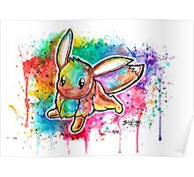 Cute Eevee Watercolor Tshirts + More! ' Pokemon ' Jonny2may Poster