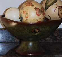 Bowl of Wooden Balls by LenaHunt