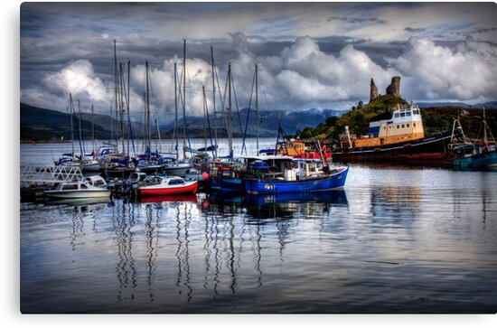 Harbour at Kyleakin, Loch Alsh, Isle of Skye. Scotland. by photosecosse /barbara jones