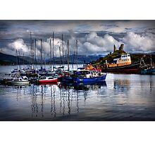 Harbour at Kyleakin, Loch Alsh, Isle of Skye. Scotland. Photographic Print