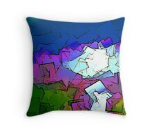 Colorized SunSet Throw Pillow