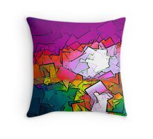 Colorized Sunrise Throw Pillow