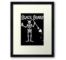 Black Beards Flag Framed Print