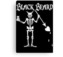 Black Beards Flag Canvas Print
