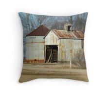 A Rusty Little Building Throw Pillow