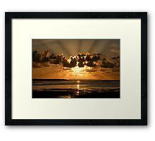 Instow sun rays Framed Print