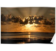 Instow sun rays Poster