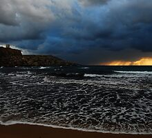 Stormy Sunset by RayFarrugia