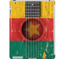 Old Vintage Acoustic Guitar with Cameroon Flag iPad Case/Skin