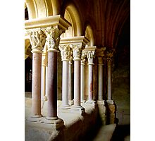 Cloister pillars Photographic Print