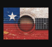 Old Vintage Acoustic Guitar with Chilean Flag Kids Clothes