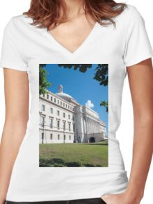 Capitol of Puerto Rico. Women's Fitted V-Neck T-Shirt
