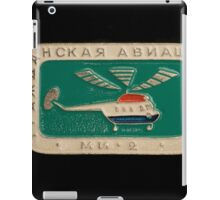 Soviet badge  helicopter MI 2 iPad Case/Skin