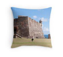 Castillo de San Cristobal. Throw Pillow