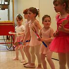 Budding Ballerinas - Waiting for the Show by Laurel Talabere