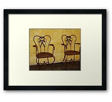 Dos Chairs  Framed Print
