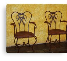 Dos Chairs  Canvas Print