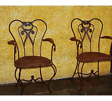 Dos Chairs  Photographic Print