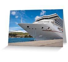 Cruise ship. Greeting Card