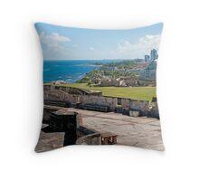 Old San Juan. Throw Pillow