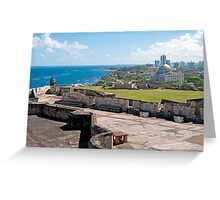 Old San Juan. Greeting Card