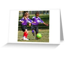 Setting Up the Soccer Ball Greeting Card