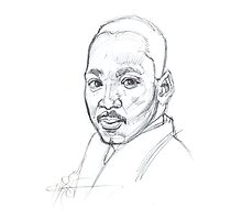 MLK - 5 minute sketch Photographic Print