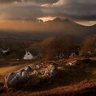 Sunbeam/Sunset over Torrin Village, Isle of Skye. Scotland. by photosecosse /barbara jones