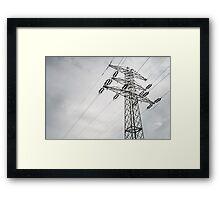 Electric power transmission  Framed Print