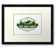Elk Hunting Motivation Framed Print