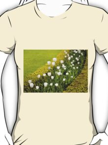 White tulips in buxus arrangement T-Shirt