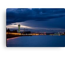 Newcastle harbour at sunset Canvas Print