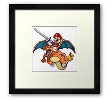 Mario and Pokemon Mashup  Framed Print