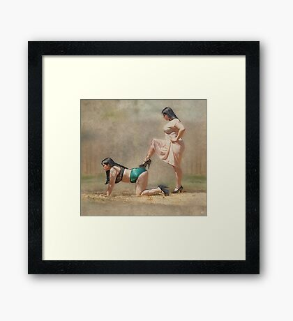 Play Nice Framed Print