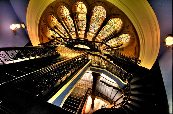 """The Grand Staircase"" - The Queen Victoria Building, Sydney - The HDR Experience by Philip Johnson"