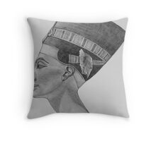 Nefertiti sketch Throw Pillow