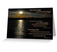 Do Not Judge Greeting Card