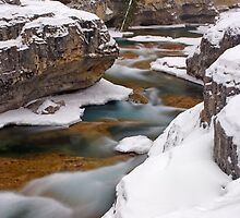 River in winter. by Philippe Widling