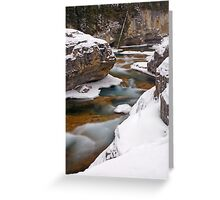 River in winter. Greeting Card