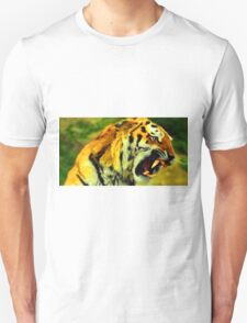 Fighting Tiger Digital Art / Painting - Fantastic Animal Art Unisex T-Shirt