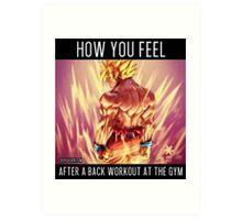 Back Workout DBZ Art Print