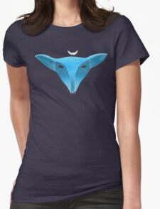 Blue fox mask with moon T-Shirt