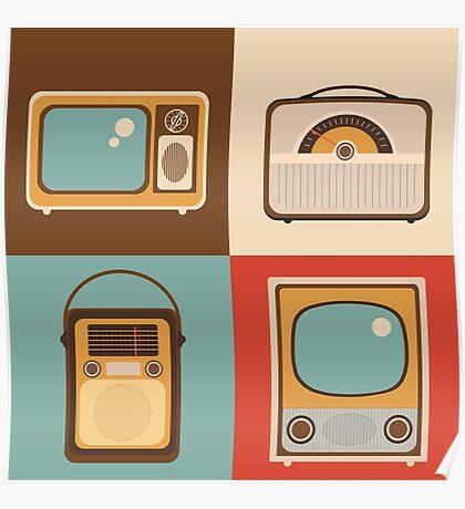Retro technology Poster