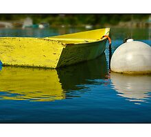 Yellow  Boat by Dave  Higgins
