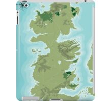 Topographic Map of Westeros iPad Case/Skin