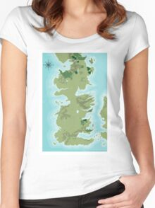 Topographic Map of Westeros Women's Fitted Scoop T-Shirt