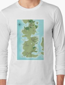Topographic Map of Westeros Long Sleeve T-Shirt