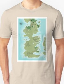 Topographic Map of Westeros Unisex T-Shirt
