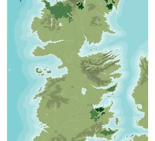 Topographic Map of Westeros by William Healy